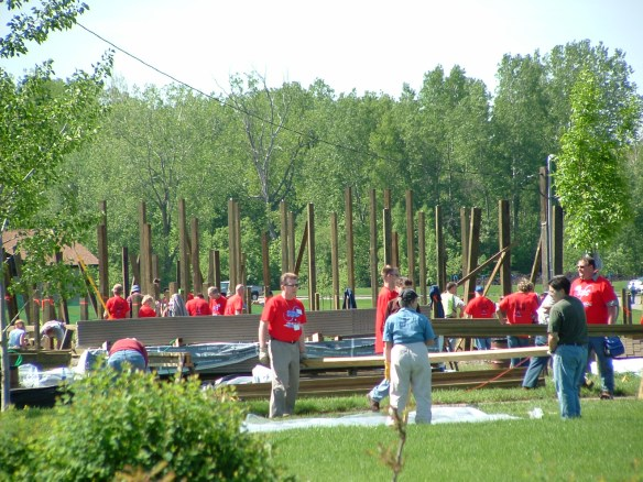 SBC Volunteers - Playground Construction 2004